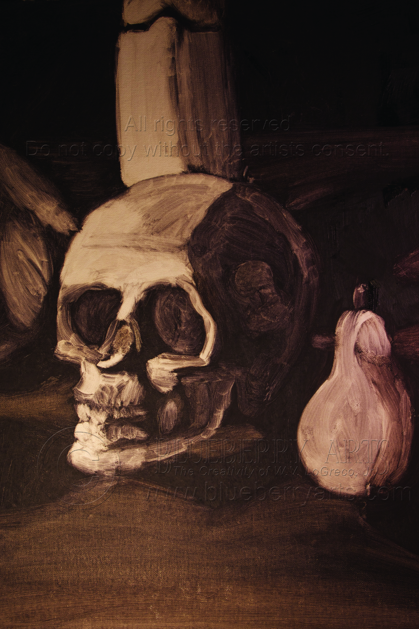 Skull and Pear